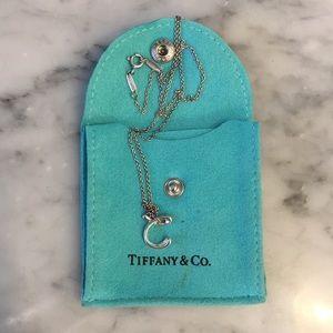 """Tiffany Elsa Peretti Letter """"C"""" necklace"""